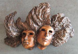 Masques (Bronze 2 têtes)